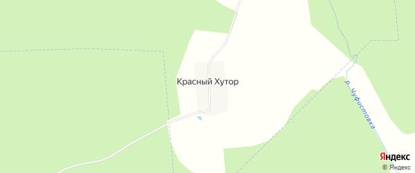Карта деревни Красного Хутора в Рязанской области с улицами и номерами домов