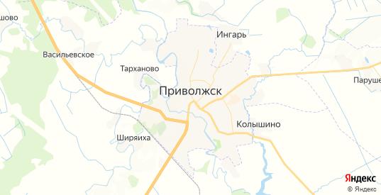 Карта Приволжска с улицами и домами подробная. Показать со спутника номера домов онлайн