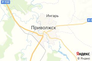Карта г. Приволжск Ивановская область