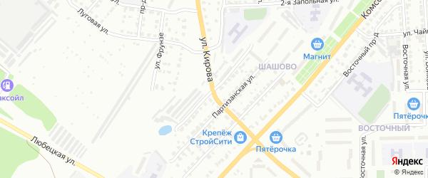 Территория ГСК 102 ул Жуковского на карте Коврова с номерами домов