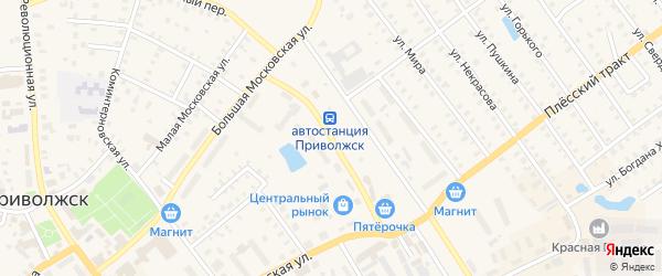 Станционный проезд на карте Приволжска с номерами домов