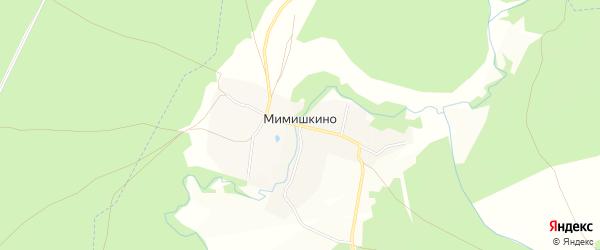 Карта деревни Мимишкино в Рязанской области с улицами и номерами домов
