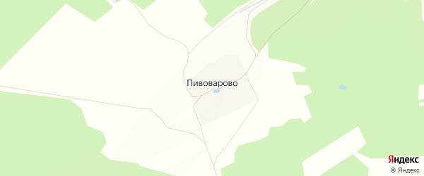 Карта деревни Пивоварово в Владимирской области с улицами и номерами домов