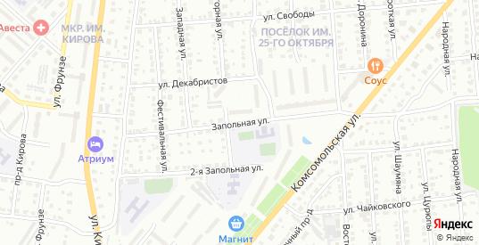 Запольная улица в Коврове с номерами домов на карте. Спутник и схема онлайн