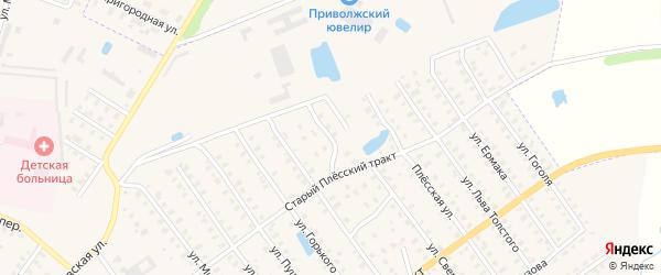 Переулок Свердлова на карте Приволжска с номерами домов