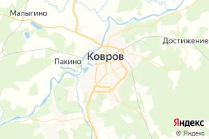 Карта г. Ковров Владимирская область