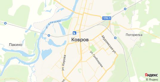 Карта Коврова с улицами и домами подробная. Показать со спутника номера домов онлайн