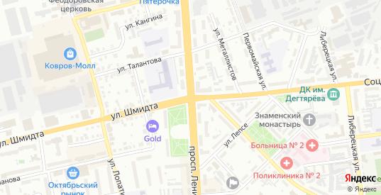 ГСК 73 ул Луговая территория в Коврове с номерами домов на карте. Спутник и схема онлайн