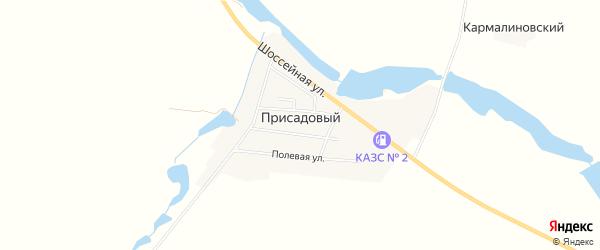 Карта Присадового поселка в Ставропольском крае с улицами и номерами домов