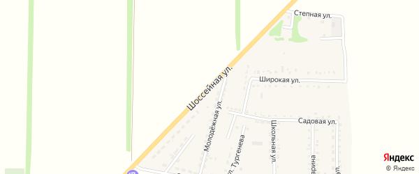 Шоссейная улица на карте Светлого поселка Ставропольского края с номерами домов