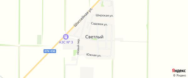 Карта Светлого поселка в Ставропольском крае с улицами и номерами домов