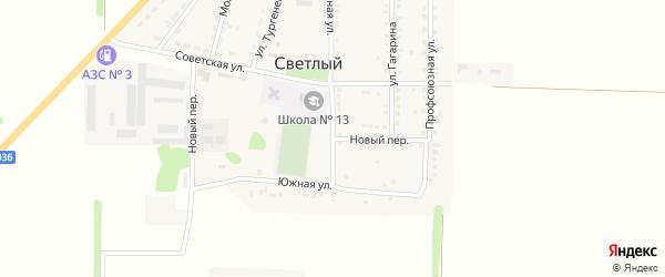 Новый переулок на карте Светлого поселка Ставропольского края с номерами домов