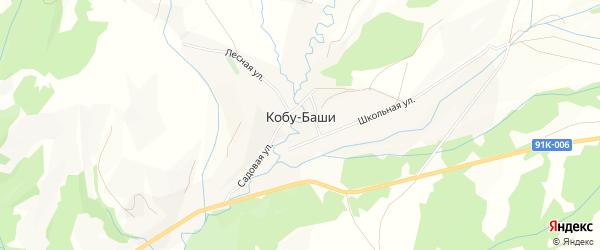 Карта аула Кобу-Баши в Карачаево-Черкесии с улицами и номерами домов