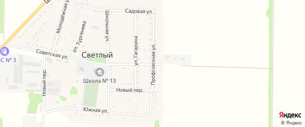 Профсоюзная улица на карте Светлого поселка Ставропольского края с номерами домов