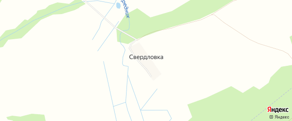 Карта деревни Свердловки в Рязанской области с улицами и номерами домов