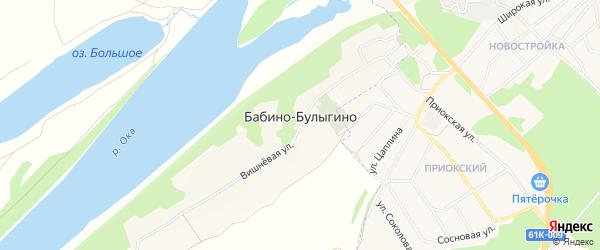 Карта деревни Булыгино в Рязанской области с улицами и номерами домов