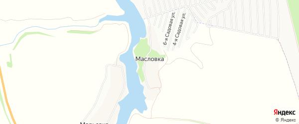 Карта деревни Масловки в Тамбовской области с улицами и номерами домов