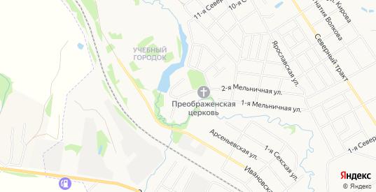 СТ Садоводческое товарищество 30 на карте Шуи с номерами домов