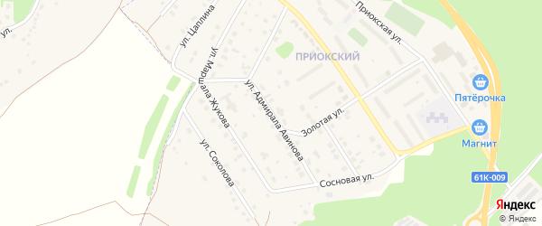 Улица Адмирала Авинова на карте Касимова с номерами домов