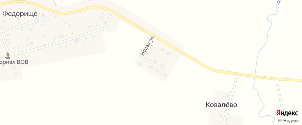 Новая улица на карте деревни Федорища Ивановской области с номерами домов