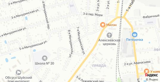 Мичуринская 7-я улица в Шуе с номерами домов на карте. Спутник и схема онлайн