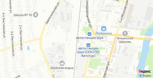 Километр ж/д дом 350 в Шуе с номерами домов на карте. Спутник и схема онлайн