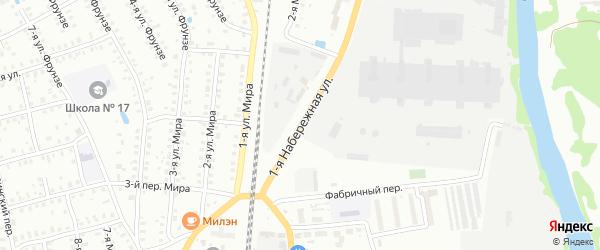 Набережная 1-я улица на карте Шуи с номерами домов