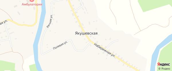 Переулок Животноводов на карте Якушевской деревни с номерами домов