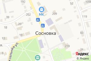 Карта пгт Сосновка Тамбовская область