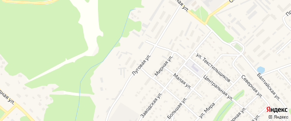 Луговая улица на карте Касимова с номерами домов