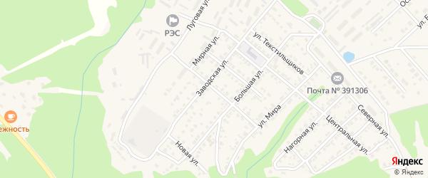 Улица Космонавтов на карте Касимова с номерами домов