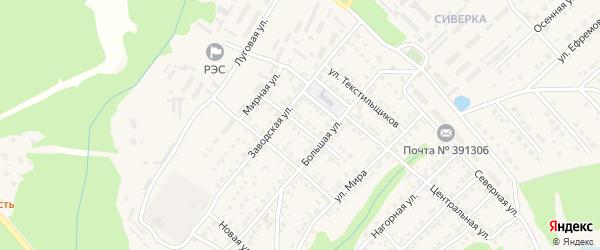 Малая улица на карте Касимова с номерами домов
