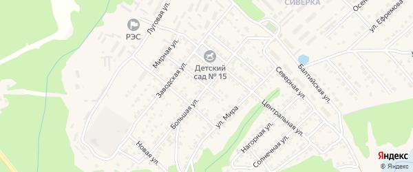 Большая улица на карте Касимова с номерами домов