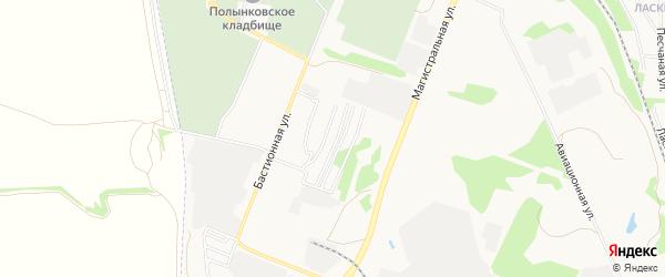 Садовое товарищество Надежда на карте Тамбова с номерами домов