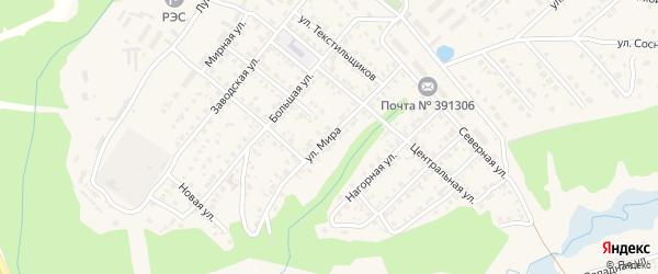 Улица Мира на карте Касимова с номерами домов