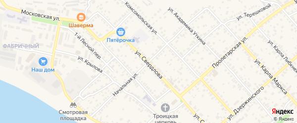 Начальная улица на карте Касимова с номерами домов