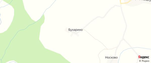 Карта деревни Бухарино в Костромской области с улицами и номерами домов