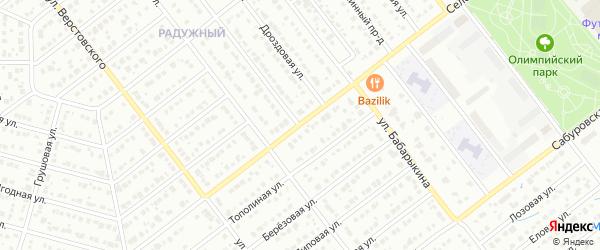 Селезневская улица на карте Тамбова с номерами домов