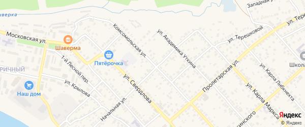 Комсомольская улица на карте Касимова с номерами домов