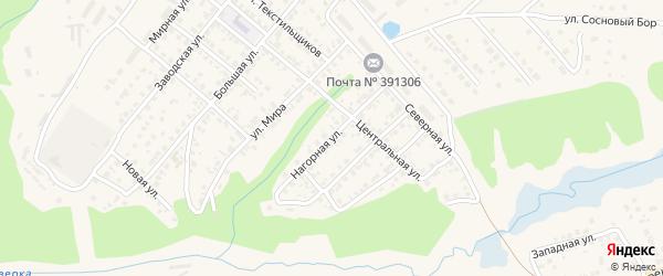 Нагорная улица на карте Касимова с номерами домов