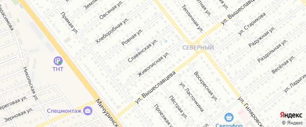 Живописная улица на карте Тамбова с номерами домов