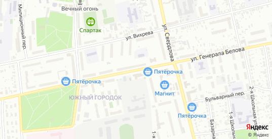 Улица Генерала Белова в Шуе с номерами домов на карте. Спутник и схема онлайн