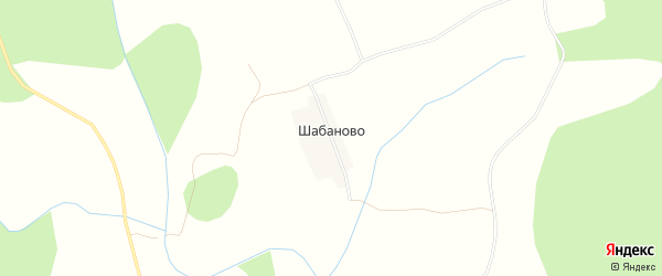 Карта деревни Шабаново в Архангельской области с улицами и номерами домов