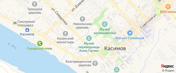 Улица Никольский овраг на карте Касимова с номерами домов