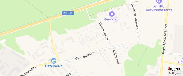 Улица Энтузиастов на карте Касимова с номерами домов