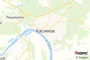 Карта г. Касимов Рязанская область