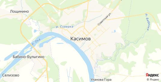 Карта Касимова с улицами и домами подробная. Показать со спутника номера домов онлайн