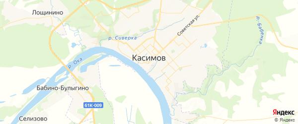 Карта Касимова с районами, улицами и номерами домов