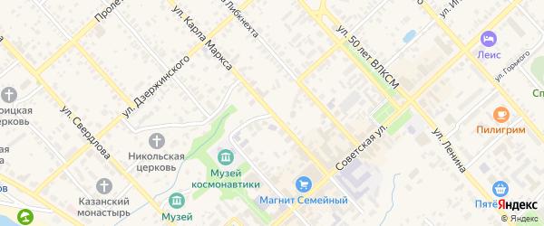 Площадь Ленина на карте Касимова с номерами домов
