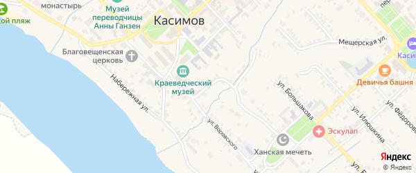 Воровского 1-й переулок на карте Касимова с номерами домов
